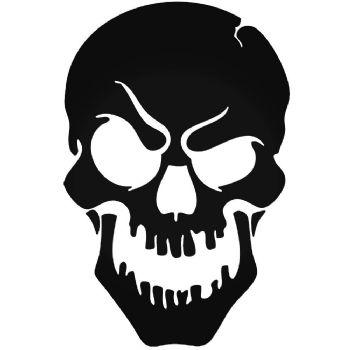 Skull silhouette Car Stickers Motorbike Vinyl Decals Fairings Panniers
